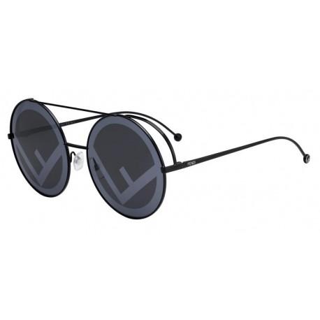 FENDI Fendi Damen Sonnenbrille » FF 0285/S«, schwarz, 807/MD - schwarz